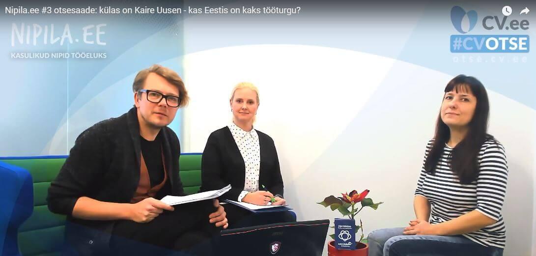 Nipila stuudio #3: Eestis justkui kaks erinevat tööturgu. Ühed otsivad, teised pakuvad, aga millegipärast ei saa nad kokku. Mis toimub?
