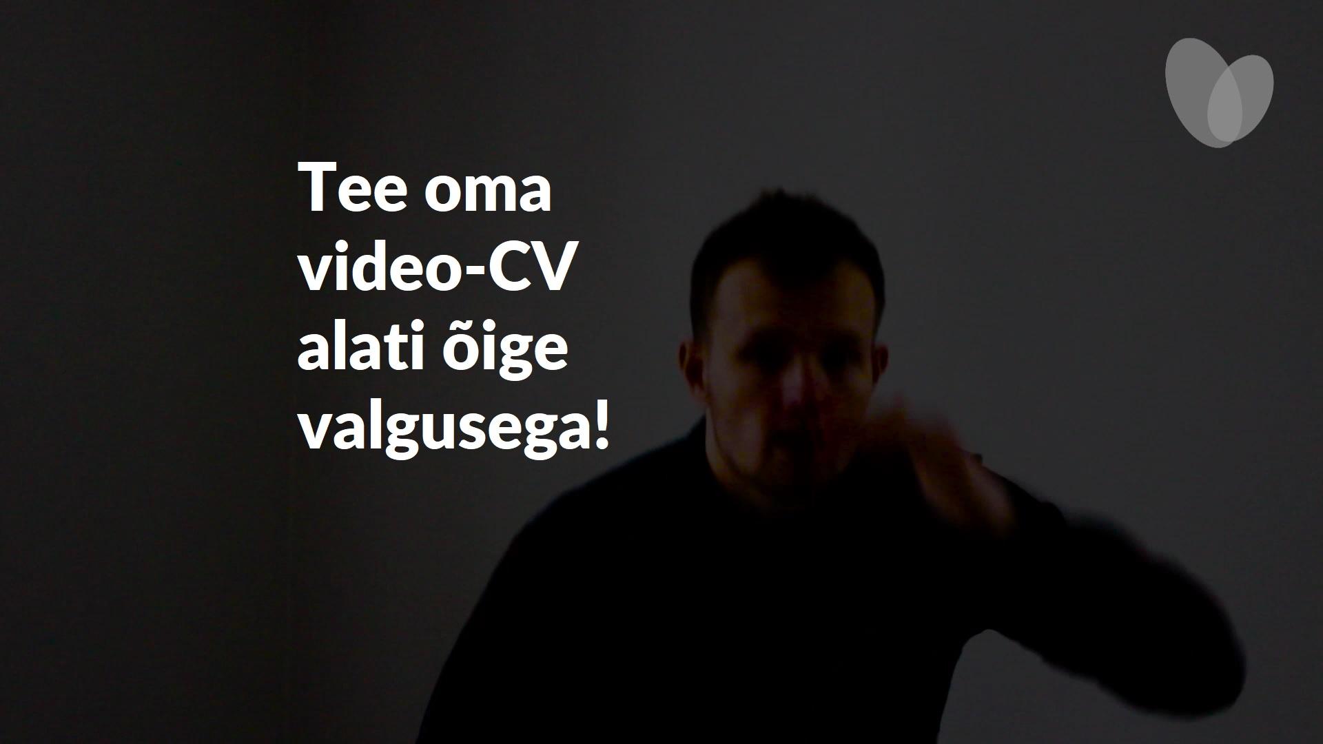 Kuidas teha tulemuslikku ja silmapaistvat video-cv-d? Siin on 7 kuldreeglit! 1