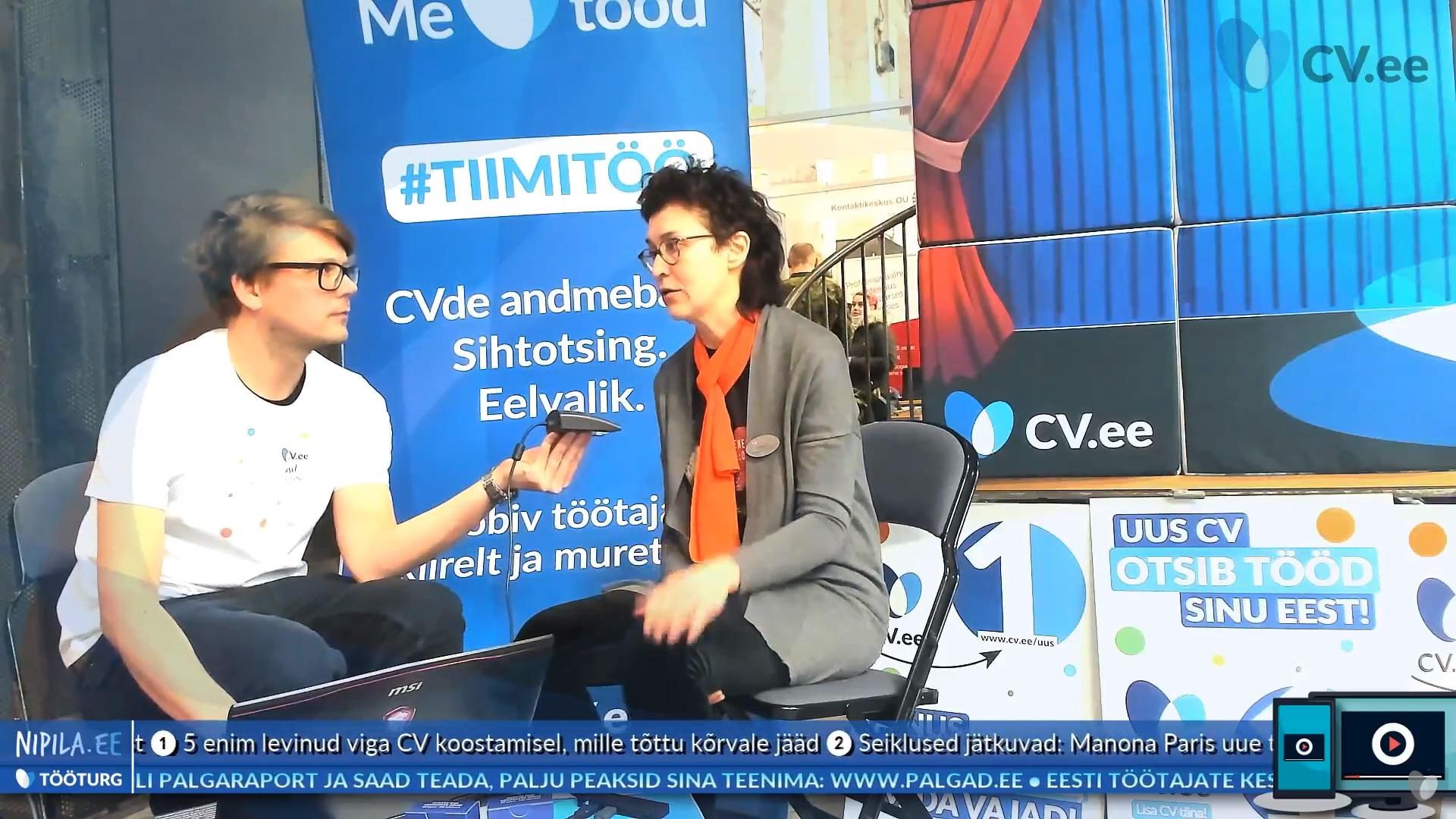 Intervjuu töömessil: karjäärinõustamine sobib kõigile ja avab silmad uutele võimalustele