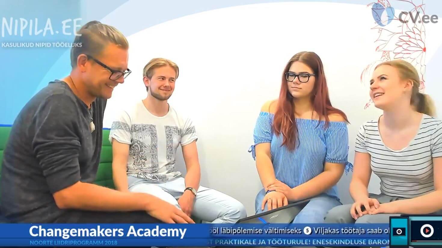 Changemakers Academy viis noored ettevõtetesse, et mõista, kuidas tööelu päriselt käib 1