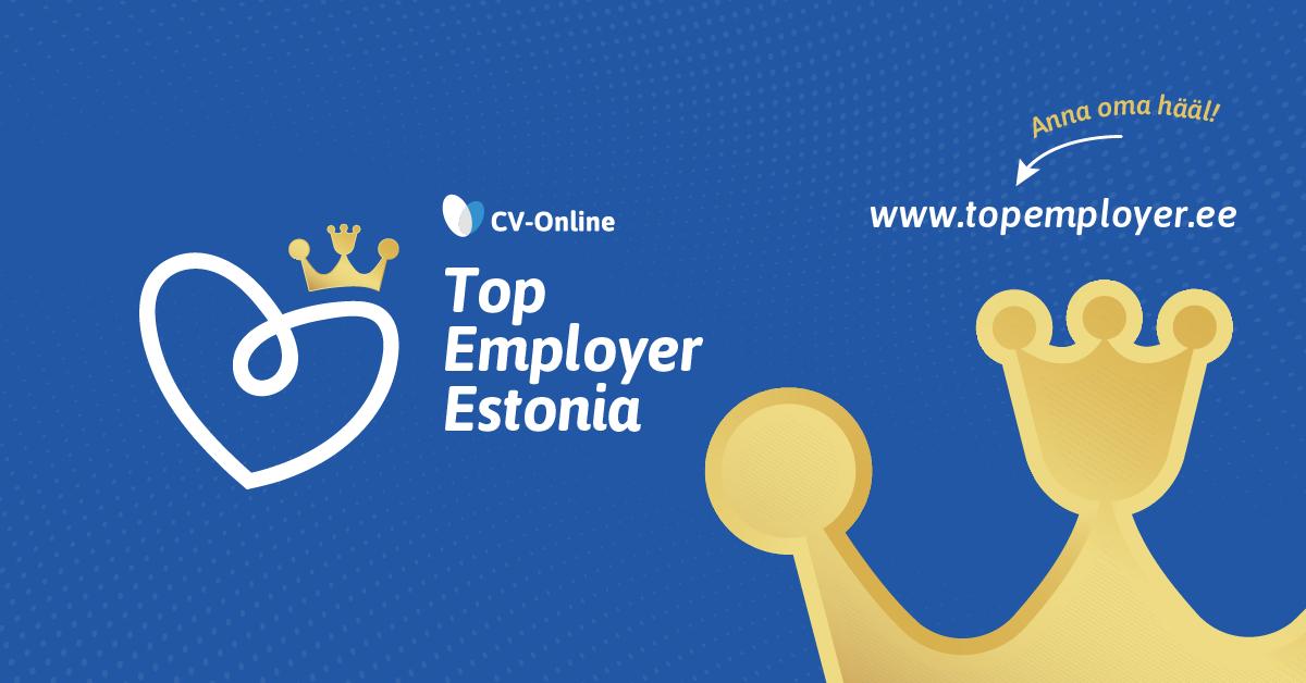 Tänasest alustab CV.ee taas üle-eestilise TOP Tööandja uuringuga
