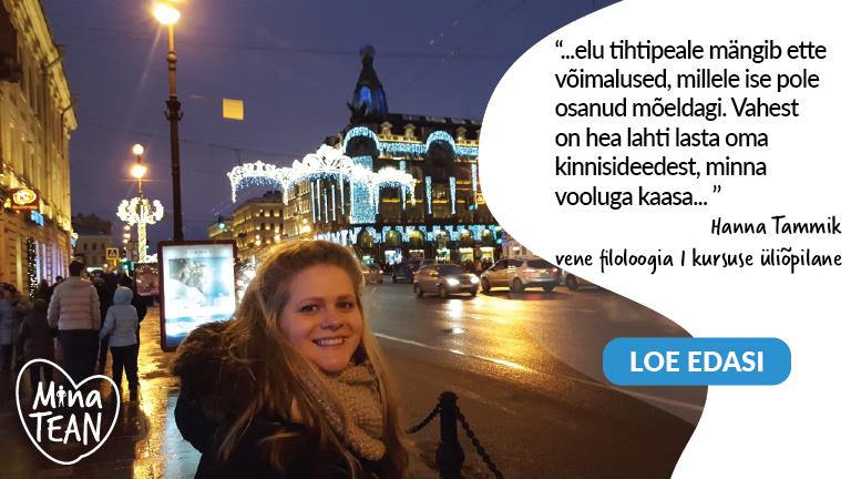 "Hanna Tammik: "" #minatean"